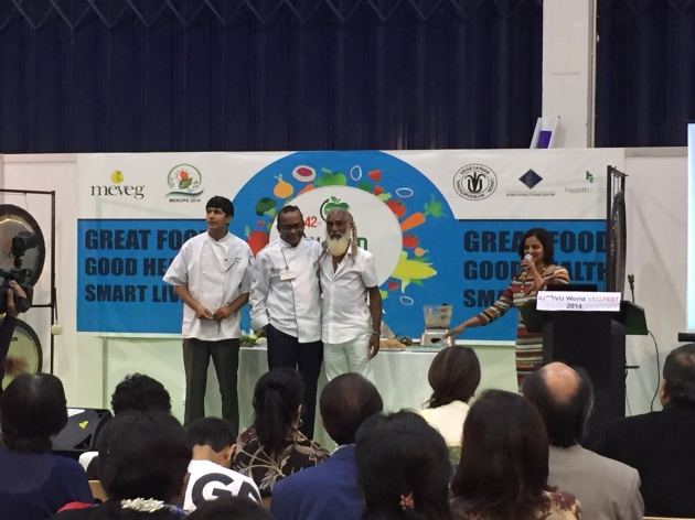 From left to right: Chef Bobby, Chef Anil, and Dr. Aris Latham