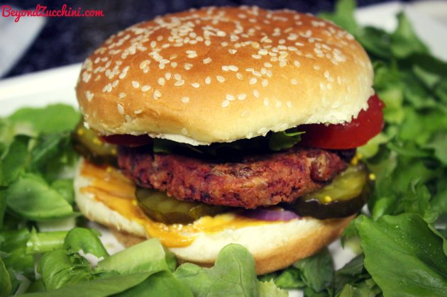 Beetroot veggie burger cheesecake factory