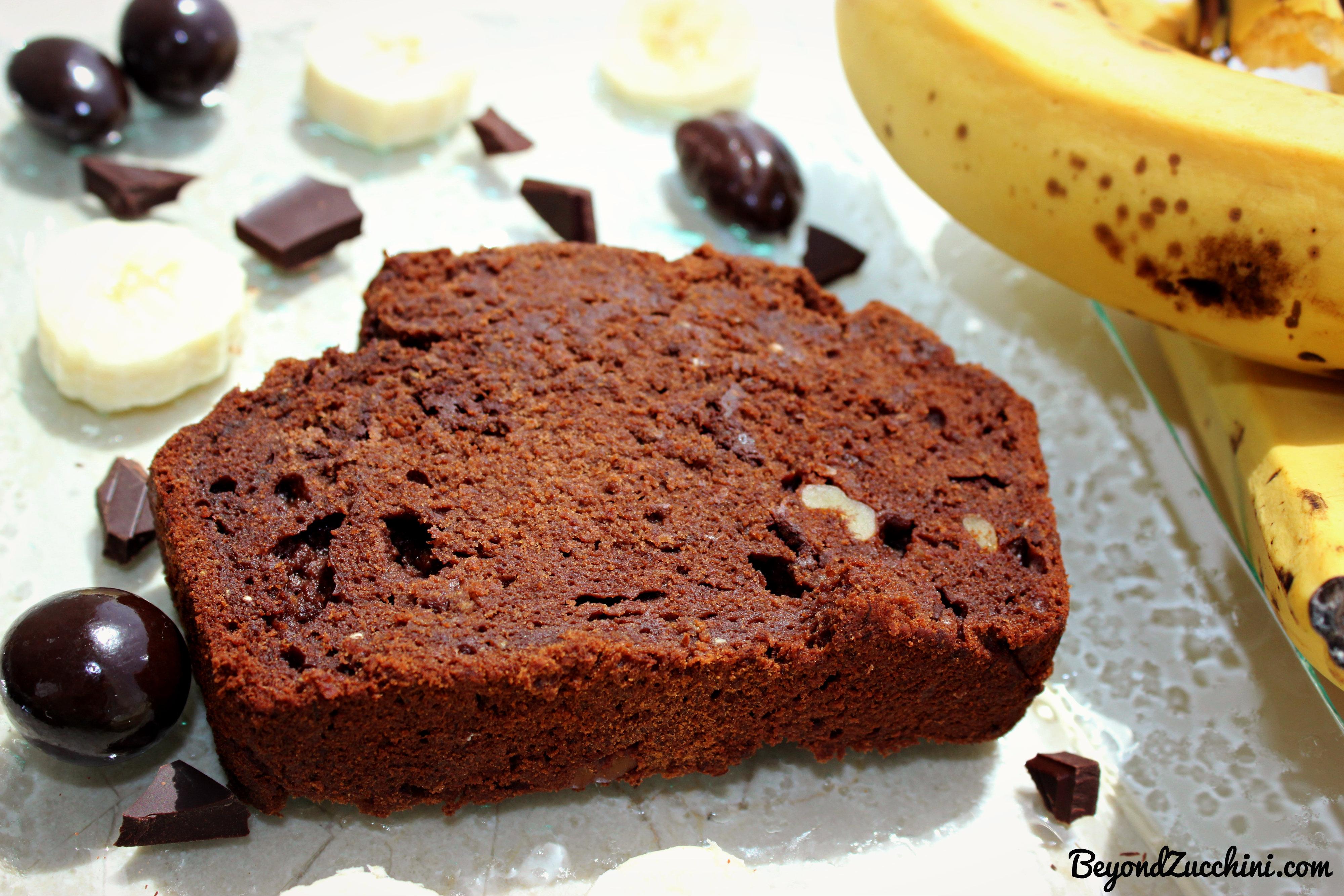 Chocolate Banana Bread (Gluten-free, dairy-free, no added ...